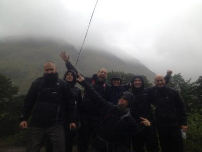 Vision Team Climbing The Tree Peaks for TeensUnite